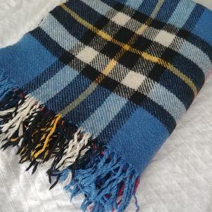 4/$15 - vintage wool plaid blanket